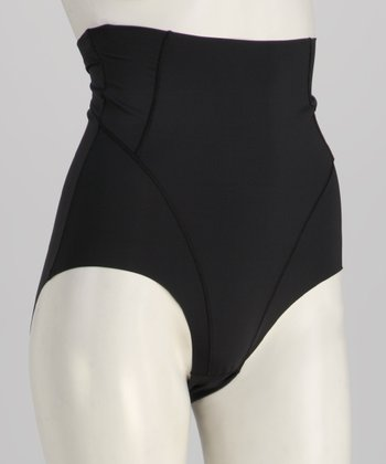 Black High-Waisted Shaper Briefs - Women