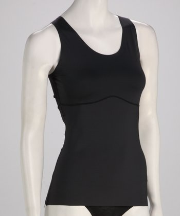 Black Shaper Vest Tank - Women