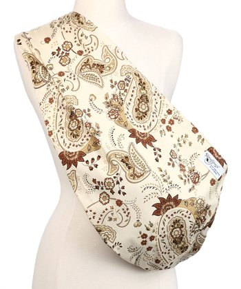 Brown & White Paisley Sylvia Padded Sling