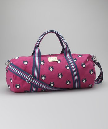 Pink Owl Canvas Duffel Bag