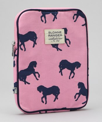 Pink Horse Canvas Tablet Case