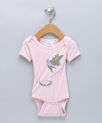 Light Pink Tutu Hippo Organic Bodysuit - Infant