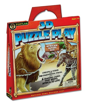 African Animals 3-D Puzzle Play Set