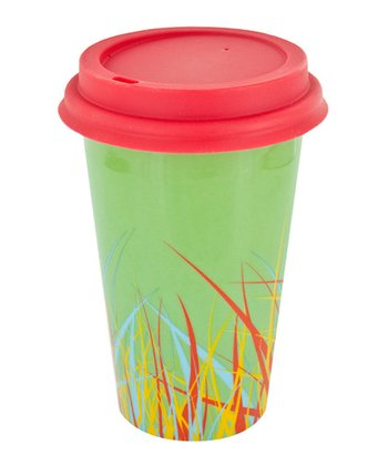 Green & Red Grass 12-Oz. Ceramic Eco Cup