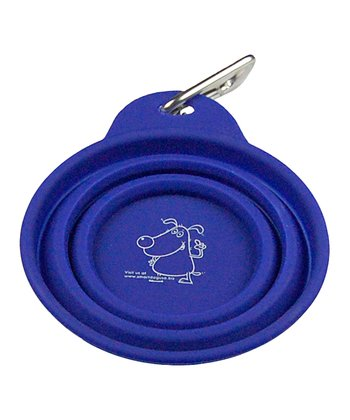 Blue Collapsible Travel Bowl & Carabiner