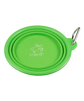 Green Collapsible Travel Bowl