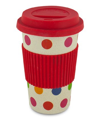 Polka Dot 12-Oz. Bamboo Eco Cup