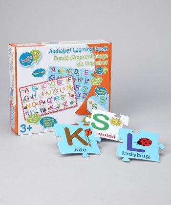 English & French Reversible Alphabet Puzzle
