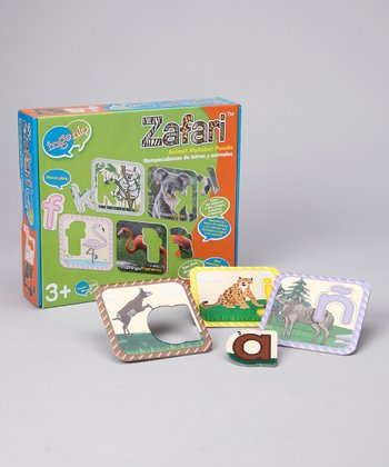 English & Spanish Zafari Animal Alphabet Puzzle