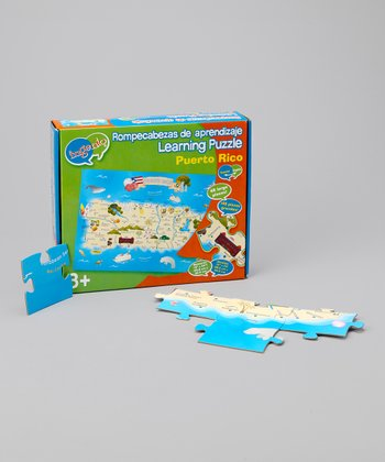 Spanish & English Puerto Rico Floor Puzzle