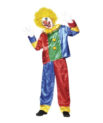 Red & Blue Clown Dress-Up Set - Kids