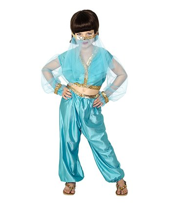 Aqua Arabian Princess Dress-Up Set - Kids