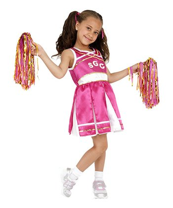 Pink Cheerleader Dress-Up Set - Kids