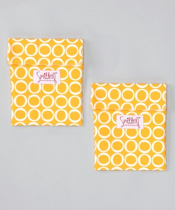 Smitten Baby Canary Flip It Snack Bag - Set of Two
