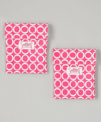 Smitten Baby Honeysuckle Rose Flip It Snack Bag - Set of Two