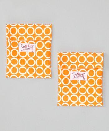 Smitten Baby Jack-o'-Lantern Flip It Snack Bag - Set of Two