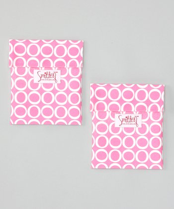 Smitten Baby Chateau Rose Flip It Snack Bag - Set of Two