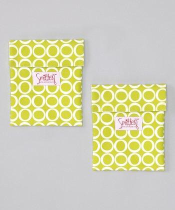 Smitten Baby Granny Smith Flip It Snack Bag - Set of Two