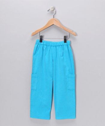 Aqua Blue Corduroy Cargo Pants - Infant, Toddler & Boys