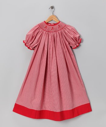 Smocked Spirit Red Alabama Bishop Dress - Infant, Toddler & Girls