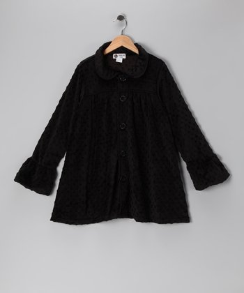Black Minky Swing Coat - Infant