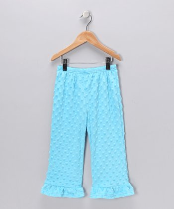 Blue Minky Pants - Infant, Toddler & Girls