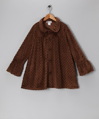 Brown Minky Swing Coat - Infant & Toddler