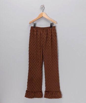 Brown Minky Pants - Infant, Toddler & Girls