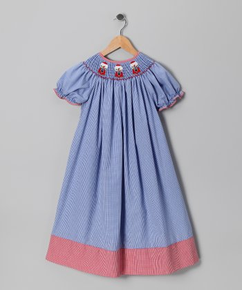 Blue Gingham Gumball Bishop Dress - Infant, Toddler & Girls