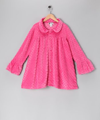 Hot Pink Minky Swing Coat - Infant & Girls