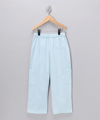 Light Blue Corduroy Cargo Pants - Infant, Toddler & Boys