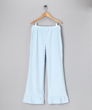 Light Blue Minky Ruffle Pants - Infant, Toddler & Girls
