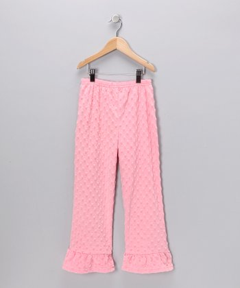 Light Pink Minky Pants - Infant, Toddler & Girls
