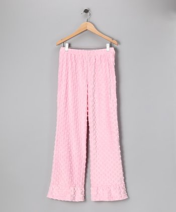Light Pink Minky Ruffle Pants - Infant & Girls