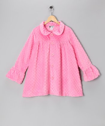 Light Pink Minky Swing Coat - Infant, Toddler & Girls