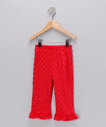 Red Minky Pants - Infant, Toddler & Girls