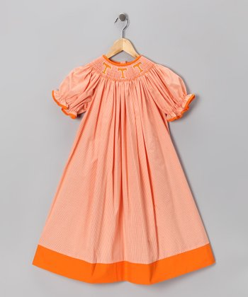 Smocked Spirit Orange Tennessee Bishop Dress - Infant, Toddler & Girls