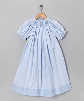 Smocked Spirit Light Blue North Carolina Bishop Dress - Infant, Toddler & Girls