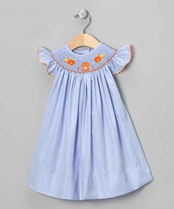 Blue Goldfish Smocked Bishop Dress - Infant, Toddler & Girls