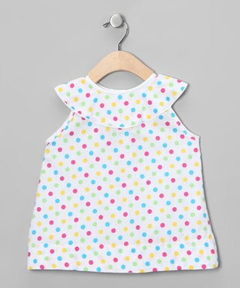 Rainbow Polka Dot Bishop Dress - Infant, Toddler & Girls