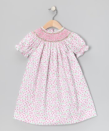 White Heart Bishop Dress - Toddler & Girls