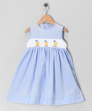 Blue Spring Showers Smocked Dress - Infant & Toddler