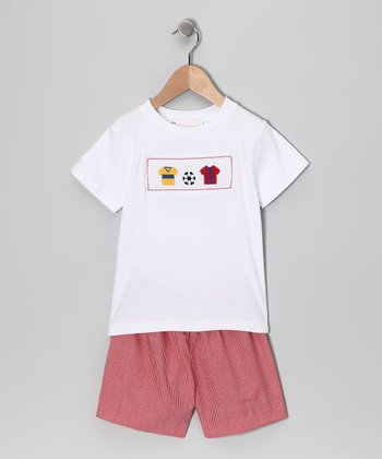 Red Soccer Tee & Shorts - Infant & Toddler