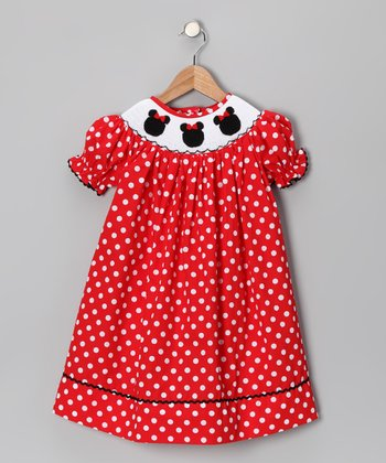 Red Polka Dot Minnie Bishop Dress - Infant, Toddler & Girls