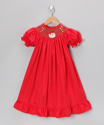Red Santa Ruffle Bishop Dress - Infant & Toddler