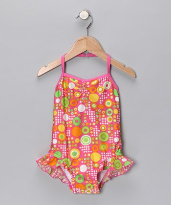 SnapMe Swimwear Pink Sherbet One-Piece - Toddler