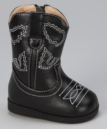 Black Squeaker Cowboy Boot