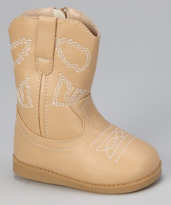 Tan Squeaker Cowboy Boot