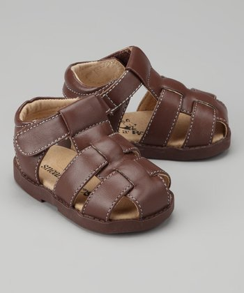 Brown Fisherman Closed-Toe Sandal