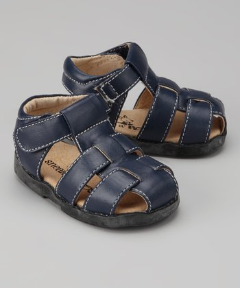Navy Fisherman Closed-Toe Sandal